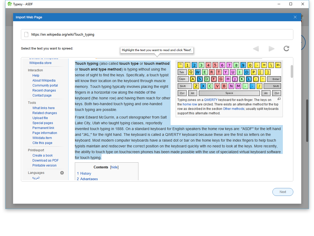 typesy touch typing keyboarding software app wiki